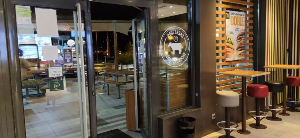 Entrada del McDonalds de O Fonsillón